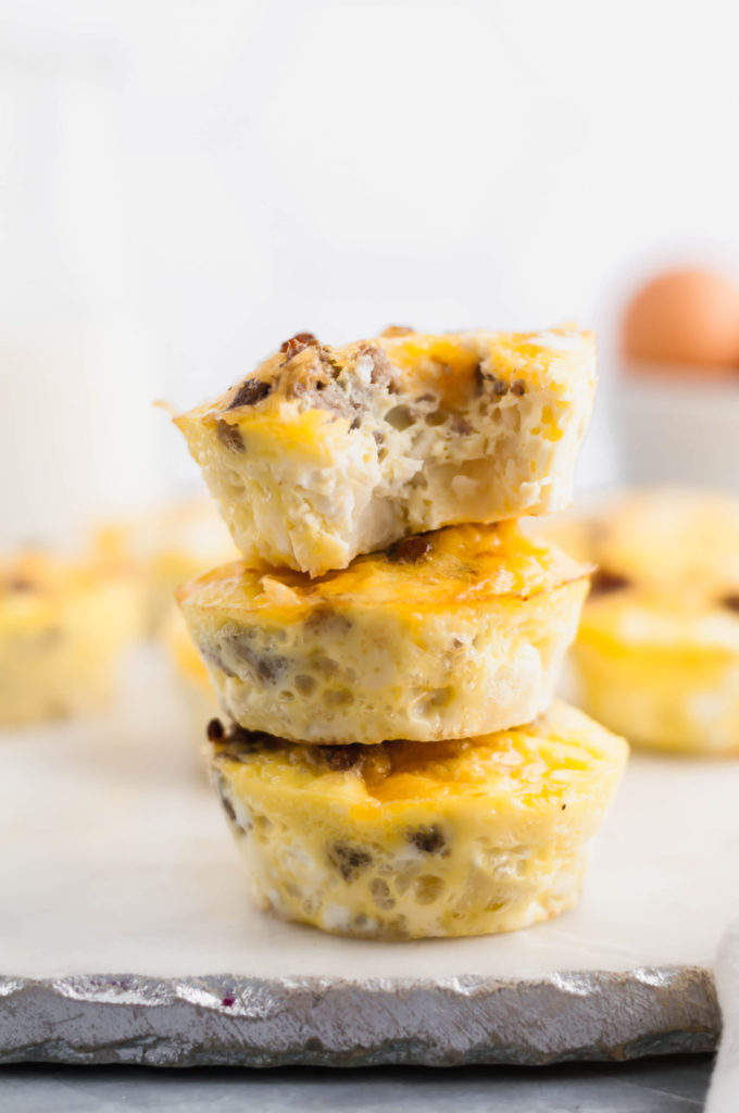 Have breakfast casserole any time with these Individual Breakfast Casserole Bites. Perfect for brunch, holiday breakfast or any day of the week.