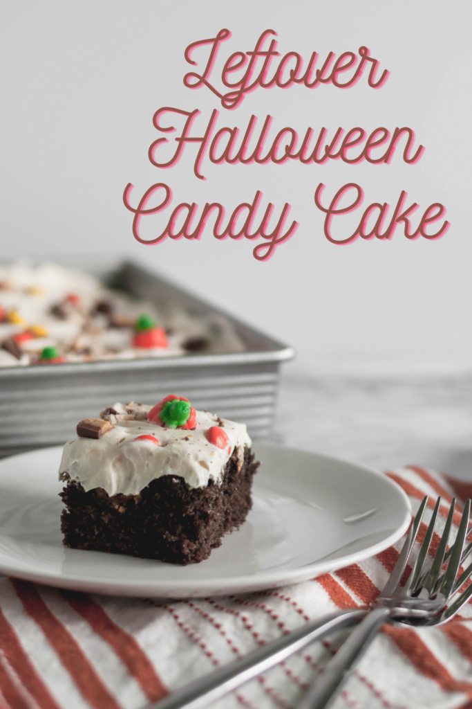 If you're wondering what to do with all that leftover Halloween candy (besides eat it), look no further. This Leftover Halloween Candy Cake is a simple and super decadent way to take care of your problem.