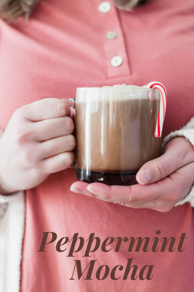 'Tis the season to drink all the peppermint mochas. Make your own Peppermint Mocha at home with just a few ingredients. And you don't have to change out of your pajamas.