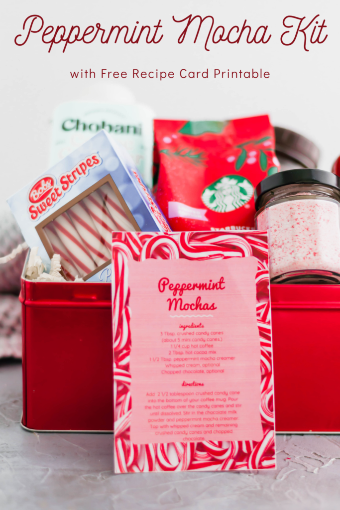 Looking for a fun, festive gift for a coffee lover in your life?! This Peppermint Mocha Kit is simple to put together and totally unique.