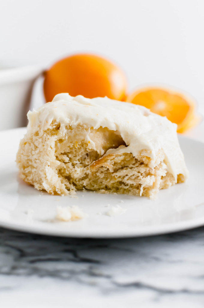 These Homemade Orange Rolls are bursting with fresh, sweet orange flavor. Get ready for tender dough, orange filling and orange scented cream cheese frosting.