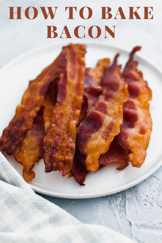 Today we're going to talk about How to Bake Bacon. It's the easiest and least messy way to prepare bacon and therefore my favorite. Read on for tips and tricks for the perfect way to prepare bacon.