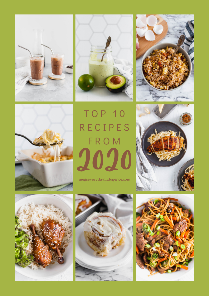 Here are the Top 10 Recipes from 2020. It was a year of comfort and lots of cooking at home.