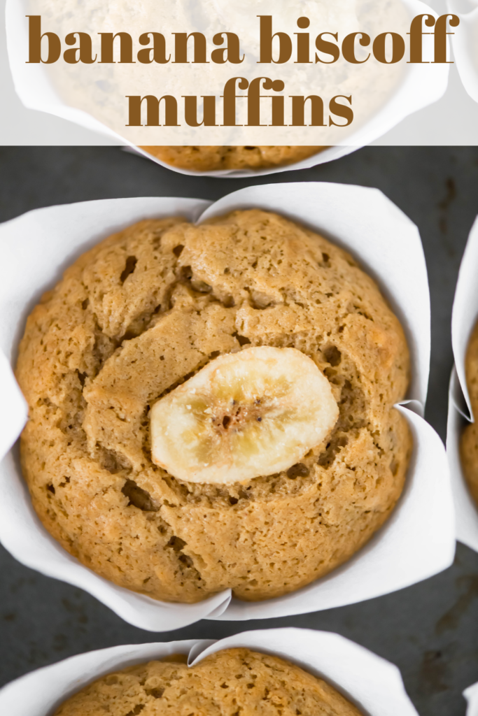 The combination of flavors in these Banana Biscoff Muffins will totally blow your mind. Sweet bananas and cinnamon cookie vibes will quickly become a new favorite.