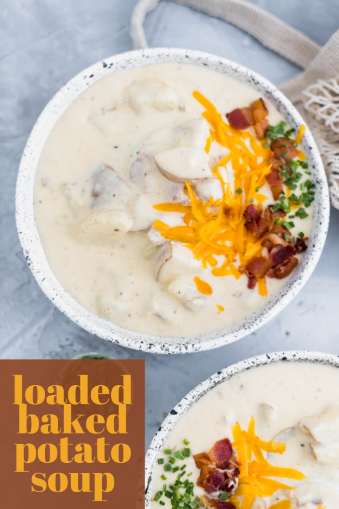 This fillling and hearty Loaded Baked Potato Soup is packed with all your favorite potato toppings. Incredibly creamy and done in about 30 minutes.