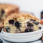 Blueberry Yogurt Coffee Cake is bursting with fresh, juicy blueberries and topped with sweet, crunchy streusel. Greek yogurt makes it perfectly moist.