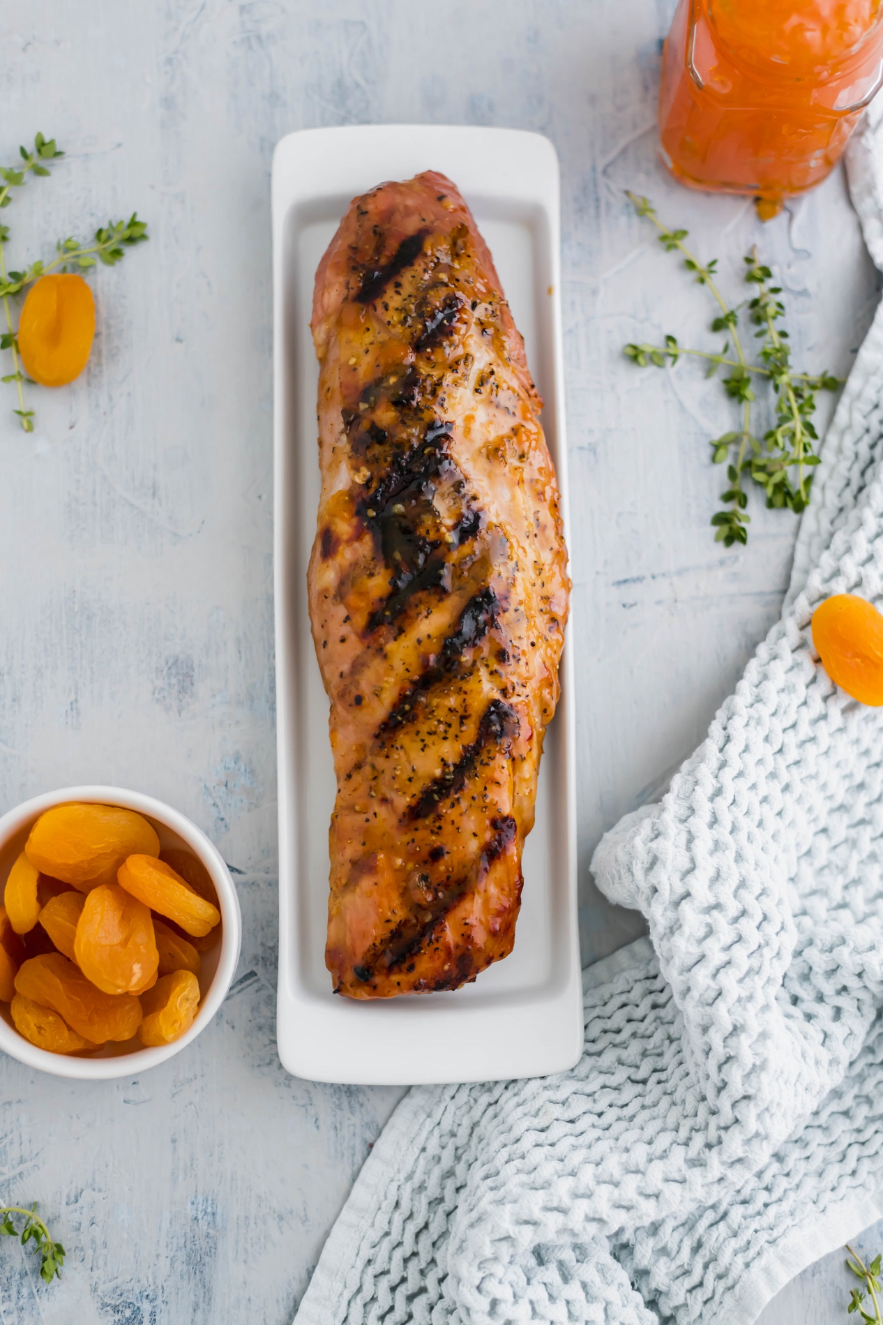 Apricot Glazed Pork Tenderloin makes for a flavorful and simple dinner any day of the week. Easy to make with just a handful of ingredients.